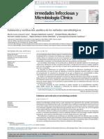 Validacion y Verificacion de Metodos Microbiologicos
