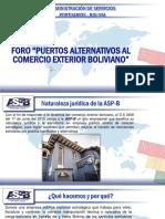 Visión Estratégica Para La Habilitación de Puertos Alternativos Al Comercio Exterior Boliviano