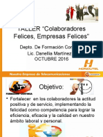 TALLER Colaboradores Felices, Empresas Felices OCT.2016
