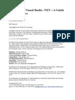 (eBook) The Book of Visual Studio NET - A Guide for Develop.pdf