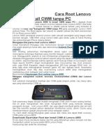 Cara Root Lenovo A850