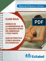 Clave Roja EsSalud Hemorragia segunda mitad Posparto