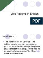 Verb Patterns (1)