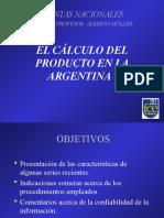 6.Muller. Cálculo Del Producto en La Argentina