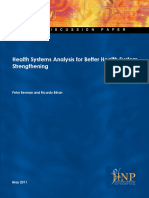 Health Systems Analysis for Better Health Sys Strengthening