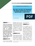 Uso de Sulfato de Magnesio Que No Responde a Salbutamol - 2013