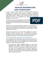 ¿Cómo Buscar Información Para Investigar