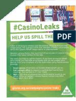Greens' flyer on Casino Leaks