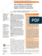 Diabetes Incidence and Glucose Intolerance Prevalence Increase With Higher Outdoor Temperature