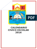 Calendario Civico Escolar 2016