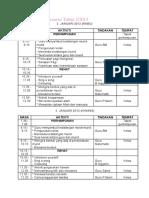 Jadual Program Transisi Tahun 1