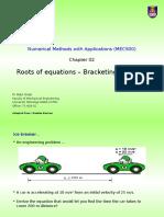 C03.01 MEC500RK Roots of Equation - Bracketing Method