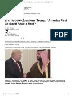 9_11 Widow Questions Trump_ _America First or Saudi Arabia First