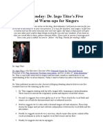 Dr. Ingo Titze's Five Favorite Vocal Warm-ups for Singers