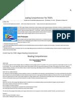 Contoh Soal Pembahasan Reading Comprehension Tes TOEFL - Cara Mudah Belajar Tes TOEFL