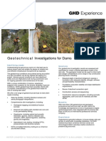 Geotechnical Investigations for Dams