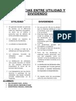 Diferencias Entre Utilidad y Dividendo