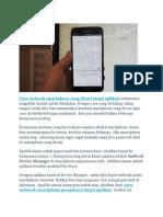 Cara Melacak Smartphone Yang Dicuri Tanpa Aplikasi