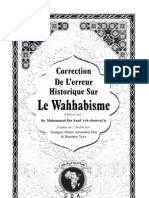 Correction de l'Erreur Historique Sur Le Wahhabisme (Dr Mohammad Ibn Saad Ir