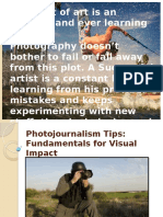 Photojournalism Tips