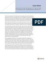 Emotional Syllabus (Super Minds All Levels)