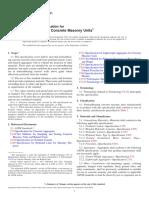 ASTM-C129-2011-Non Load Bearing Concrete Masonry