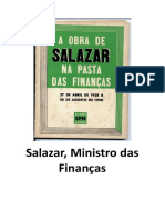 Salazar, Ministro das Finanças