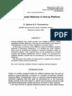 Nonlinear Dynamic Behaviour of Jack-up Platforms