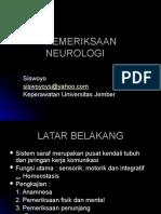 Pemeriksaan Neurologi Sis