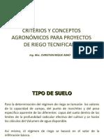 CRITERIOS DE DISEÑO AGRONOMICO.UNALM