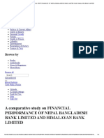 A Comparative Study on Financial Performance of Nepal Bangladesh Bank Limited and Himalayan Bank Limited