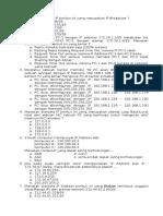 Kumpulan Soal IP Address Dan Subnetting