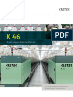 K 46 Compact Spinning Machine Brochure 2530-V3 75220 Original English 75220
