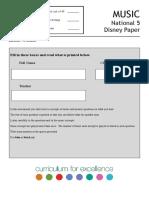 Nat 5 Disney Paper