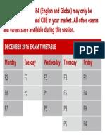 Exam Times December 2016