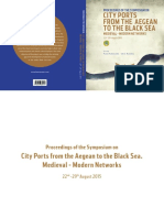 City ports from the Aegean to the Black Sea. Medieval - Modern Networks