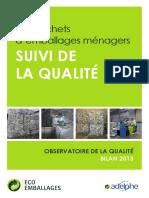 Observatoire de La Qualite 2013