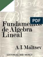 Fundamentos de Álgebra Lineal - A. I. Máltsev