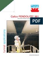 Cafco FENDOLITE® MII Datasheet for Tunnel application