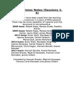 MEdEd Revision Notes Set 1 2013