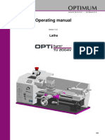 Optimum OptiTurn TU-2004V Operating Manual