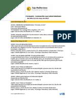 Agenda Actividades Destacadas. Del 8 al 21 de mayo de 2017. Fundación Caja Mediterráneo
