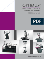 Optimum Metal Working Machinery Catalogue 2016