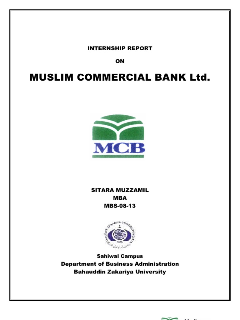 Internship report on mcb bank cheque clearing finance spiritdancerdesigns Choice Image
