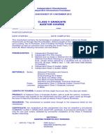 Grad v Check Sheet