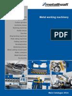 Metallkraft Metal Working Machinery - Main Catalogue 2016