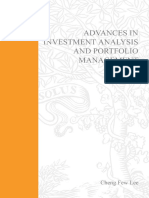 Advances in Investment Analysis and Portfolio Management Chang Few Lee 2001