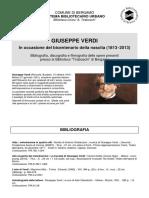 Giuseppe Verdi - Bibliografia