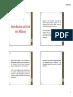 Introduction Au Droit Des Affaires