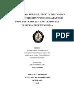 Analisis Pengaruh Size, Profitabilitas Dan Leverage Terhadap Pengungkapan Csr Pada Perusahaan Yang Terdaftar Di Bursa Efek Indonesia